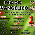 NÍSIA FLORESTA RECEBERÁ A TERCEIRA EDIÇÃO DO DIA DO EVANGÉLICO