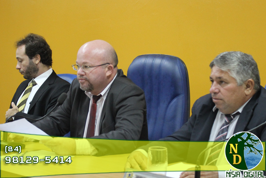 Vereadores Daniel Marcelo e Caristia