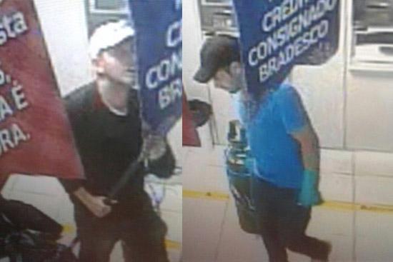 Criminosos flagrados pelas câmeras de segurança Imagem Divulgação
