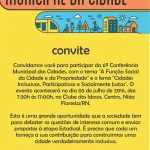 6ª CONFERÊNCIA MUNICIPAL DAS CIDADES TEM DATA MARCADA EM NÍSIA FLORESTA