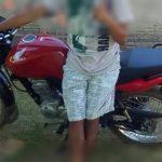 CRIMINOSOS ROUBAM MOTOCICLETA NA COMUNIDADE DO TIMBÓ