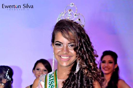 Ana Rafaela Miss Teen do Miss e Mister RN Infantil 2016