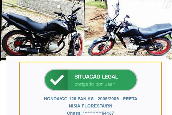 moto roubada em boa agua 04 09 2016